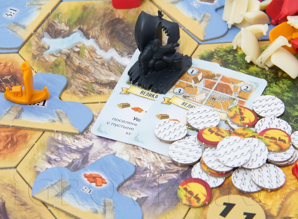 Компоненты настольной игры Колонизаторы: Мореходы (дополнение)