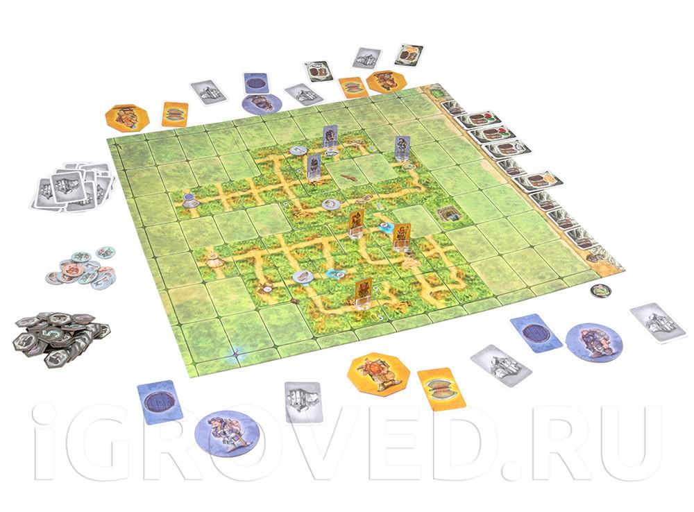 Игровой процесс настольной игры Гномы-вредители. Древние шахты
