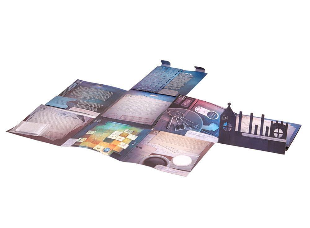Уникальный разворачивающийся конверт настольной игры Доктор Дарк