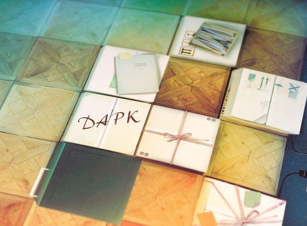 Компоненты настольной игры Доктор Дарк
