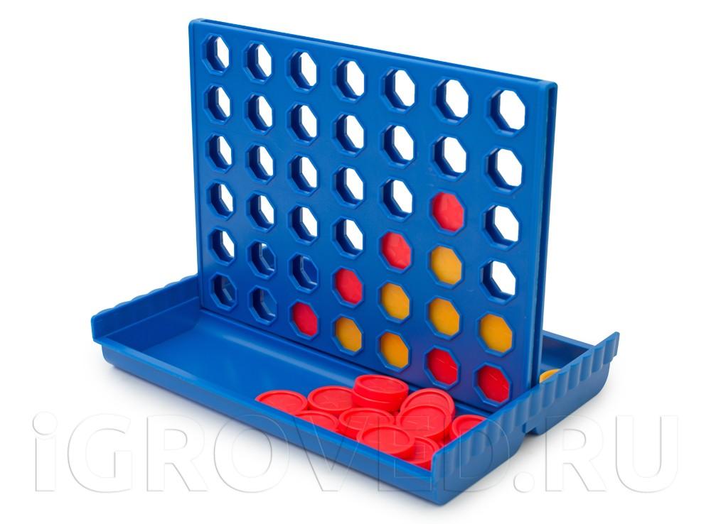 Игровой процесс настольной игры Четыре в ряд (Gewinn mit)