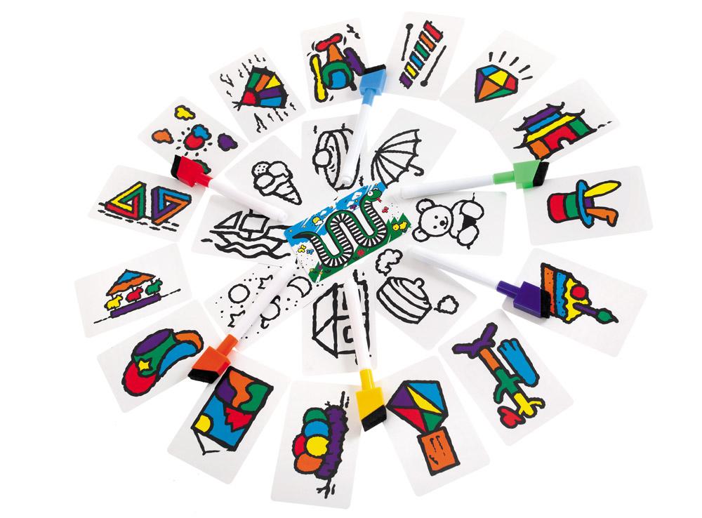 На каждой карточке присутствуют все шесть цветов. Настольная игра Скоростные цвета