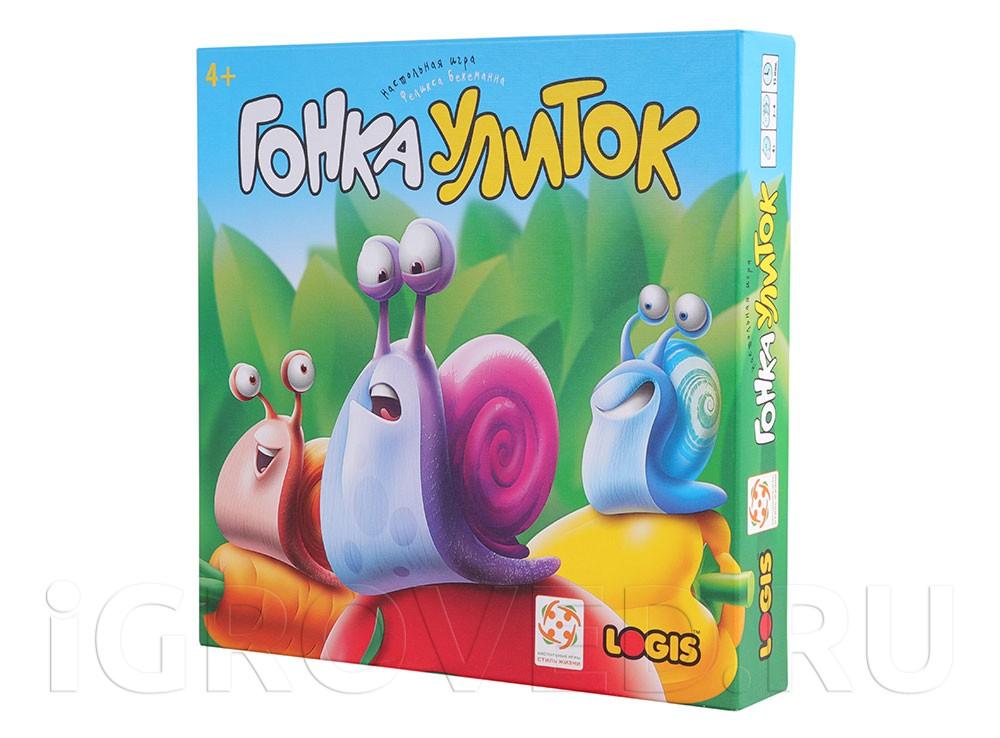 Коробка настольной игры Гонка улиток (Go Slow! )
