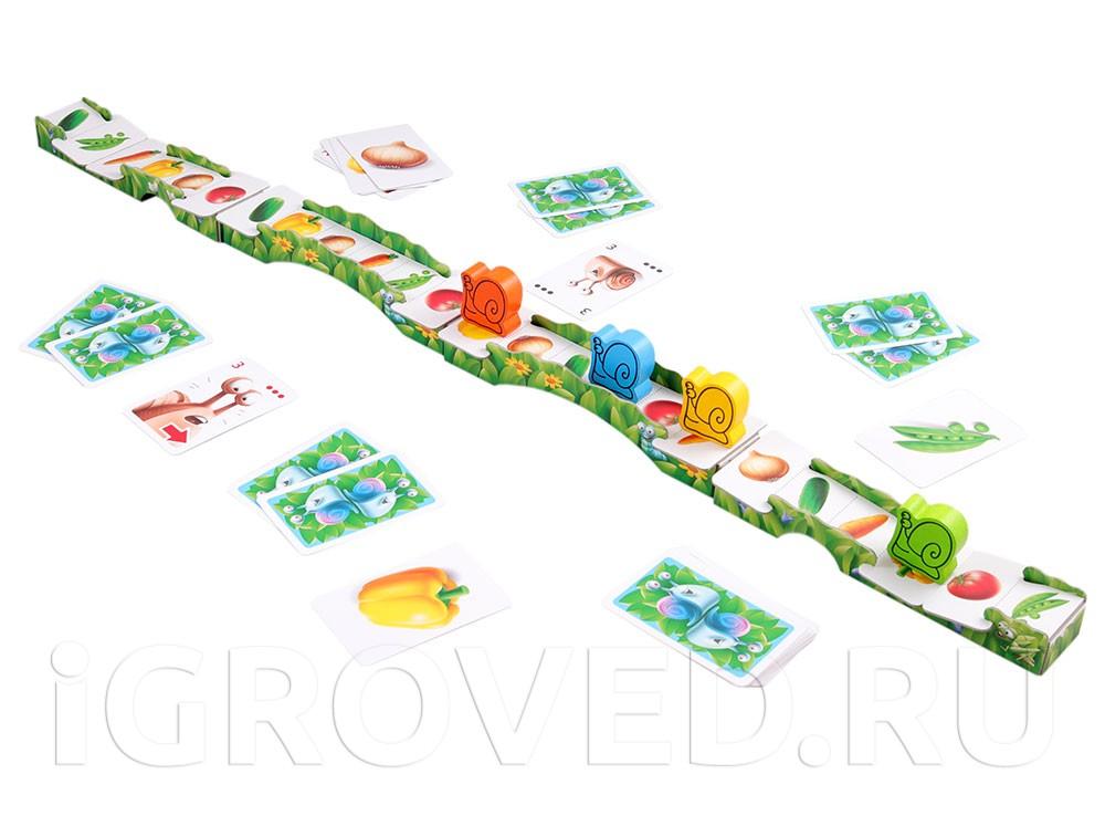 Игровой процесс настольной игры Гонка улиток (Go Slow! )