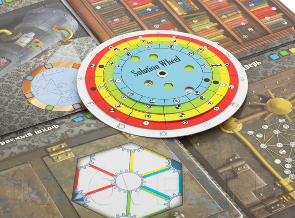 Компоненты настольной игры Квест в коробке. Загадка усадьбы астролога