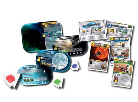 Компоненты настольной игры Покорение Марса: Колонии (дополнение)