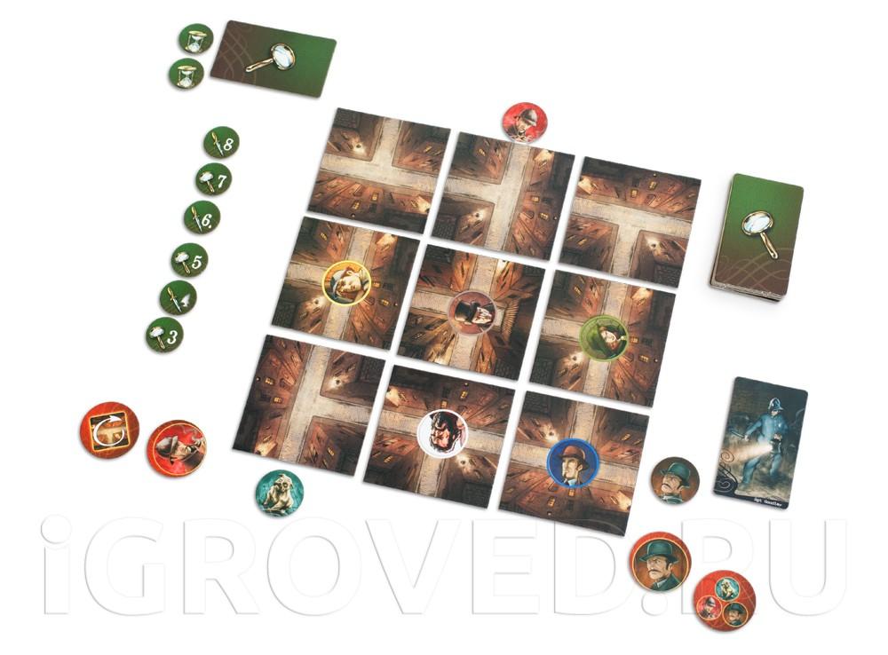Игровой процесс настольной игры Мистер Джек (компактная версия, Mr. Jack Pocket)