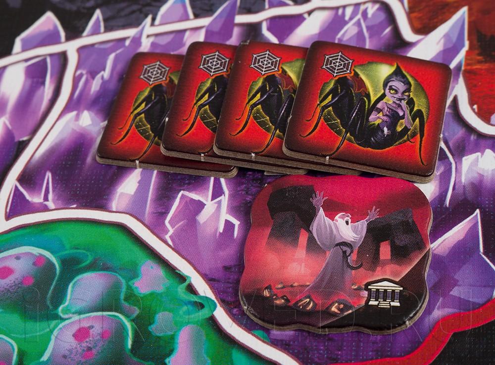 Настольная игра Подземный Мир (Small world: Underground, русское издание) компоненты