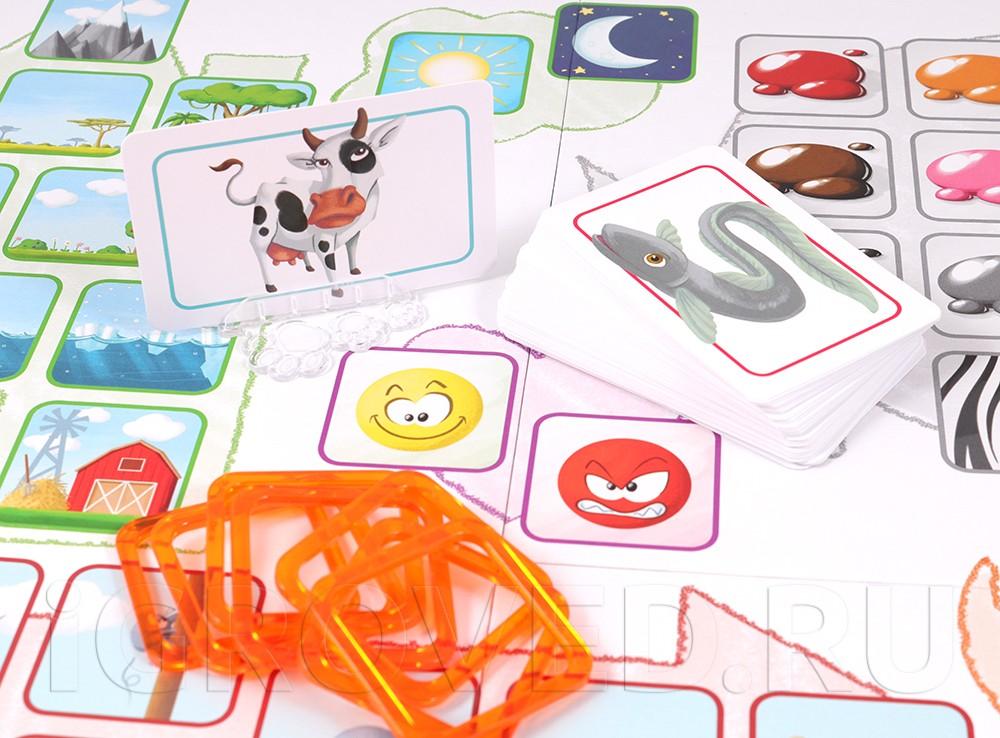 Компоненты настольной игры Концепт для детей