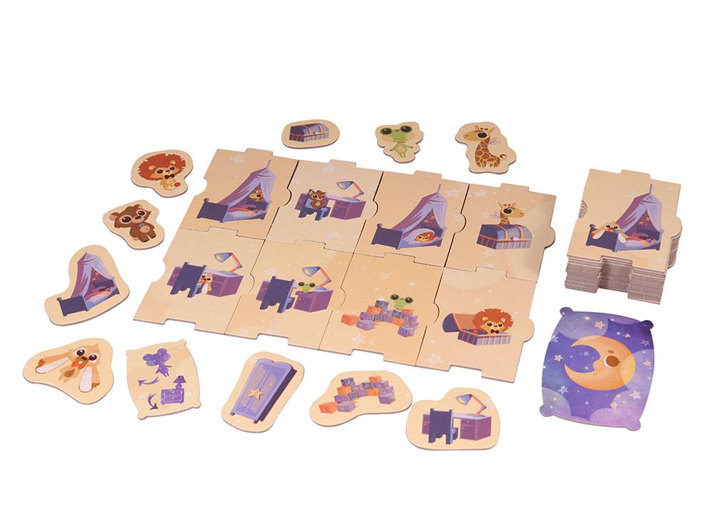 Компоненты настольной игры Плюшевые прятки