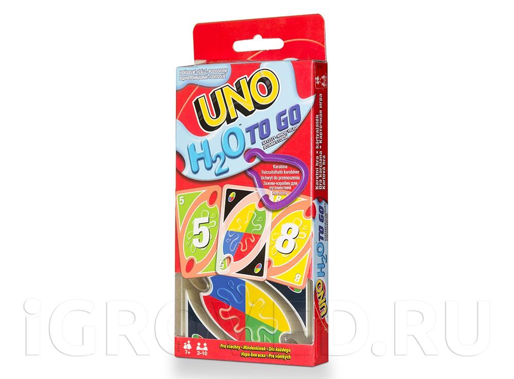 Коробка настольной игры Уно H2O (Uno H2O)