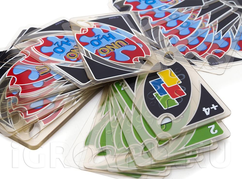 Карточки настольной игры Уно H2O (Uno H2O)