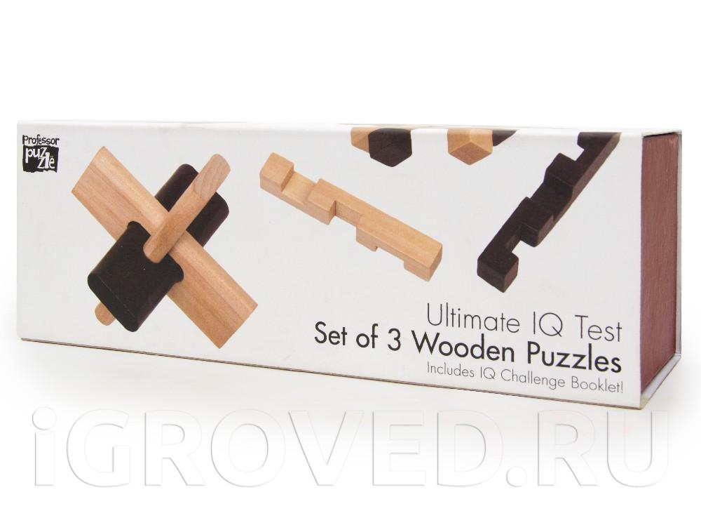 Набор из 3 головоломок из дерева