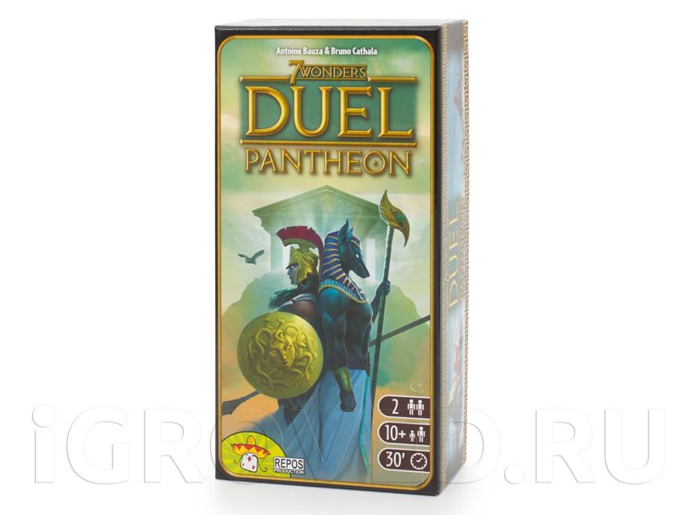Коробка настольной игры 7 Чудес Дуэль: Пантеон (7 Wonders Duel: Pantheon, дополнение)