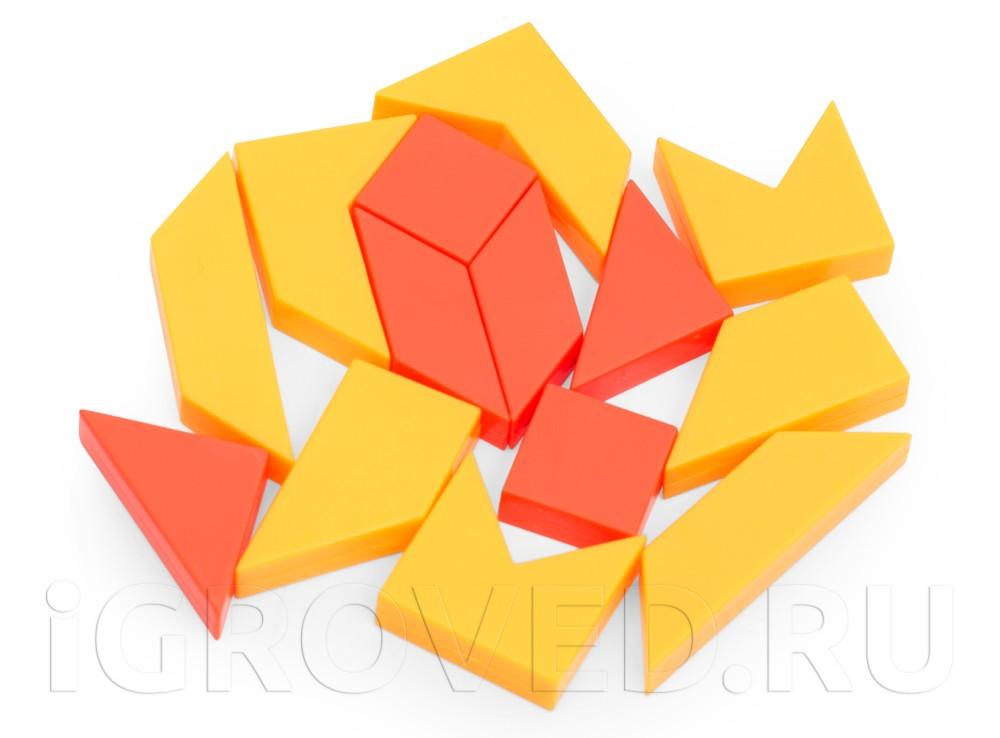 Разноцветные части головоломки