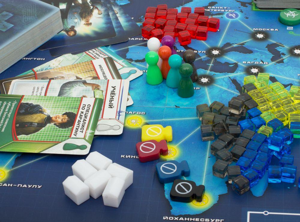 Компоненты настольной игры Пандемия