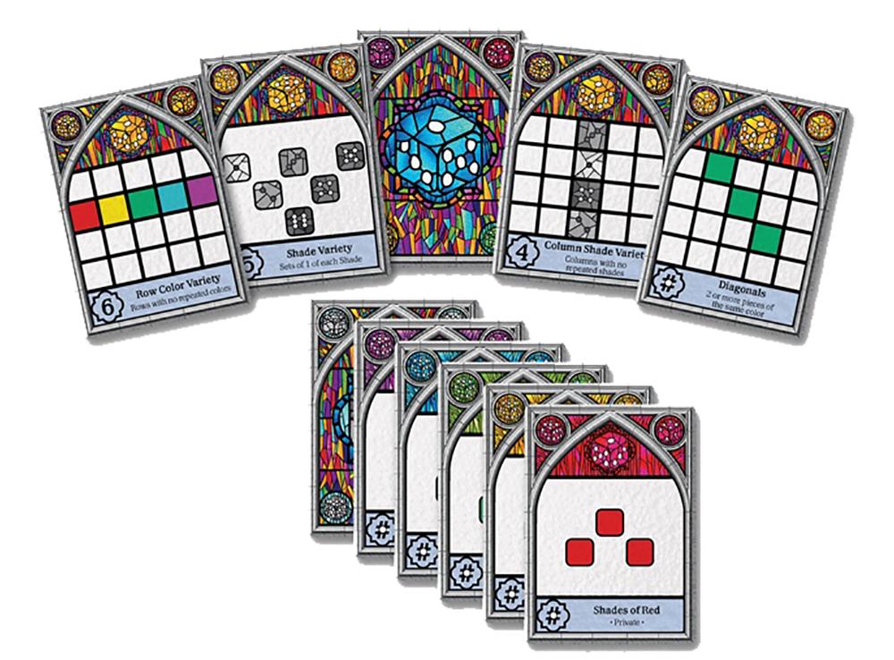 Компоненты настольной игры Саграда