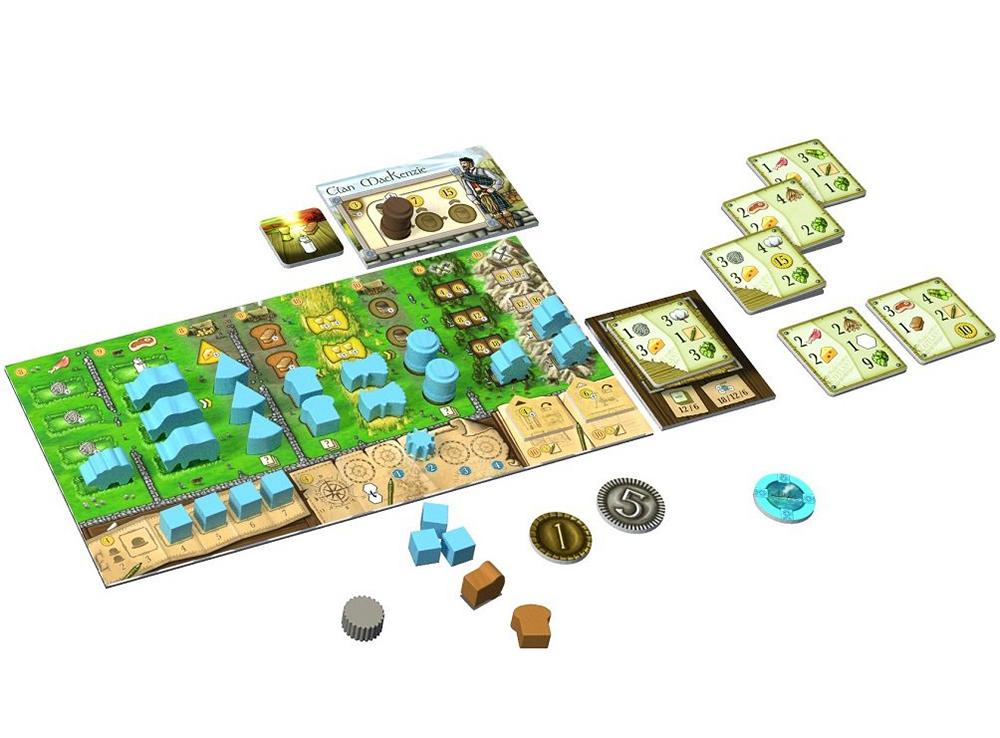 Игровой процесс настольной игры Кланы Каледонии