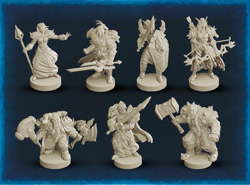 Фигурки героев игры Пандемия: World of Warcraft
