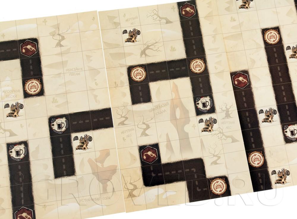 Игровое поле настольной игры Нитро