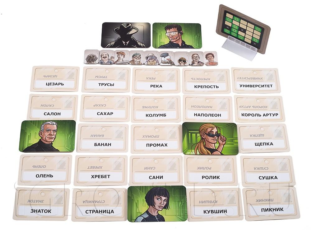 Игровой процесс настольной игры Кодовые имена: Дуэт (Codenames Duet)