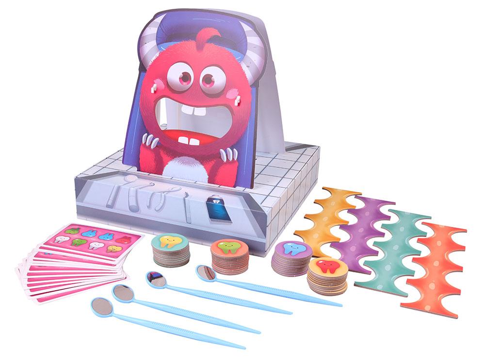 Компоненты настольной игры Зубной для монстров