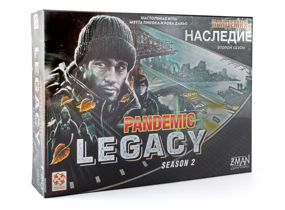 Коробка настольной игры Пандемия: Наследие 2 (Pandemic Legacy: Season 2, чёрная)