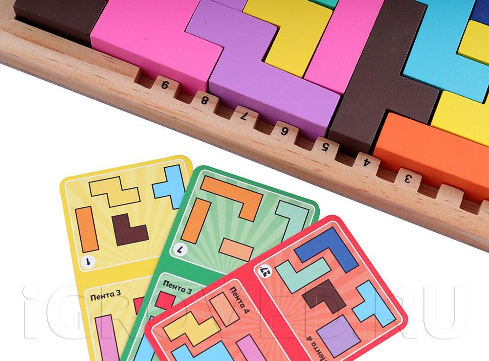 При игре вдвоем используются карты заданий. Настольная игра Катамино (Katamino) Семейная версия