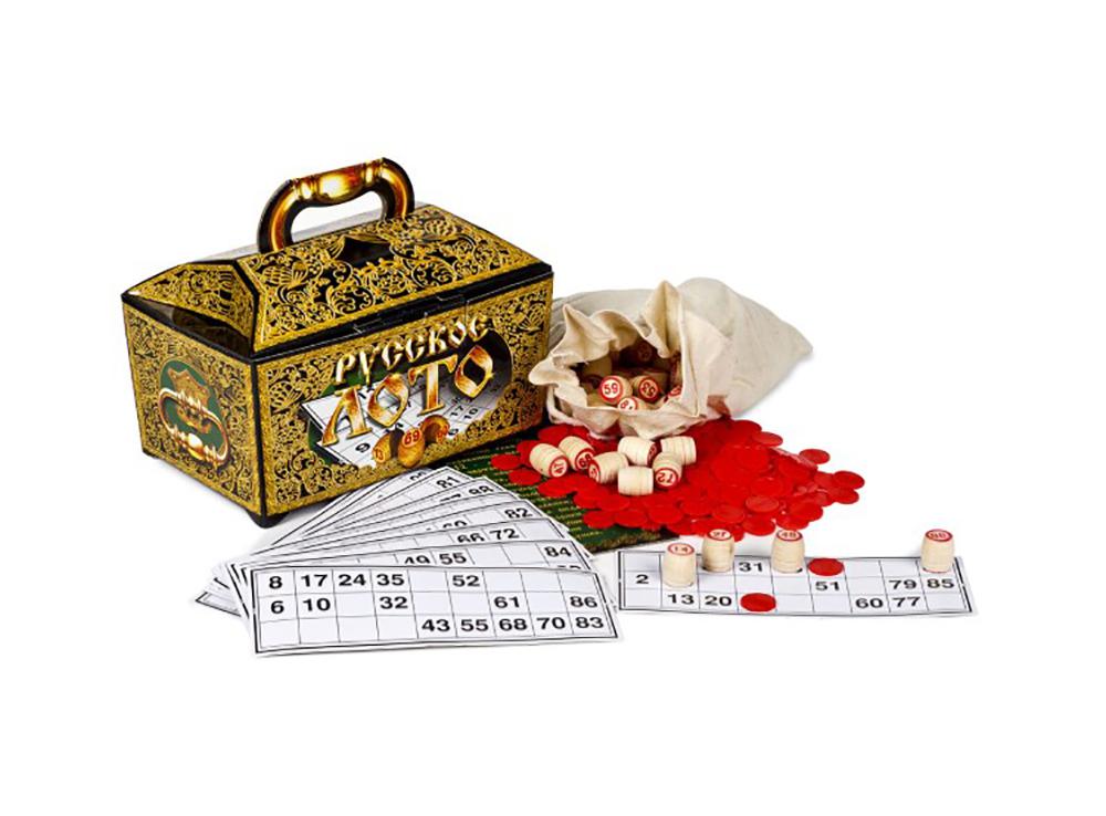 Компоненты настольной игры Русское лото (подарочное)