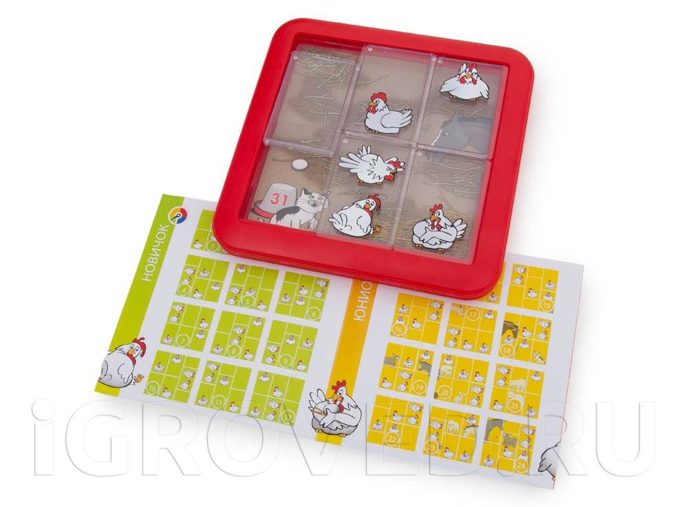Настольная игра-головоломка Курочки-наседки напоминает пятнашки