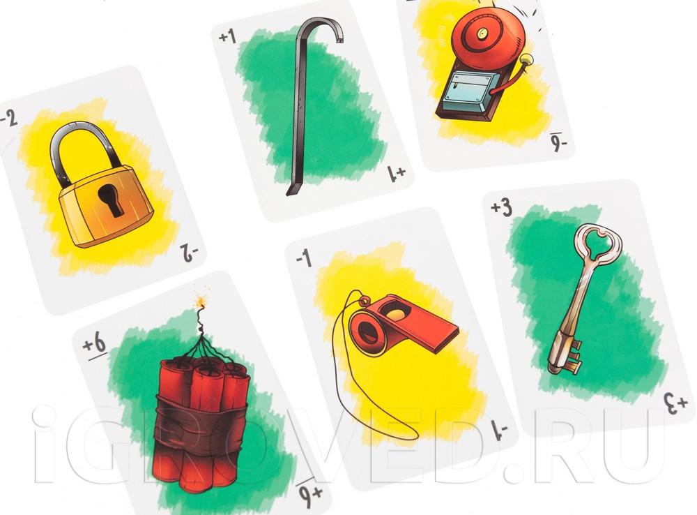 Карточки настольной игры Грабители
