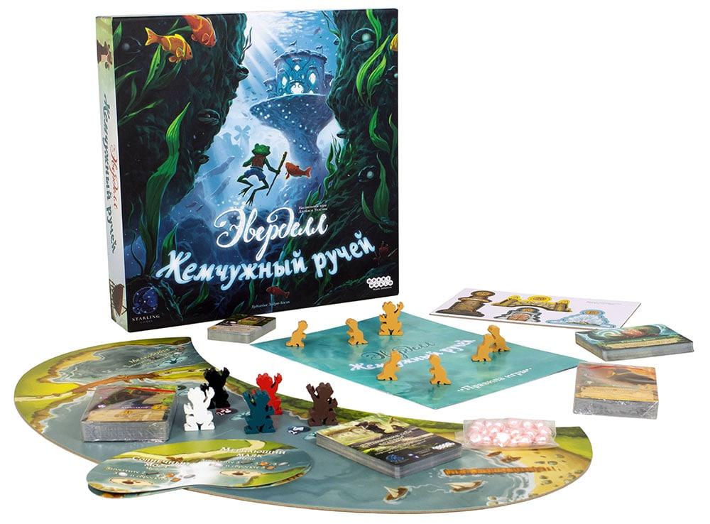 Коробка и компоненты настольной игры Эверделл Жемчужный ручей