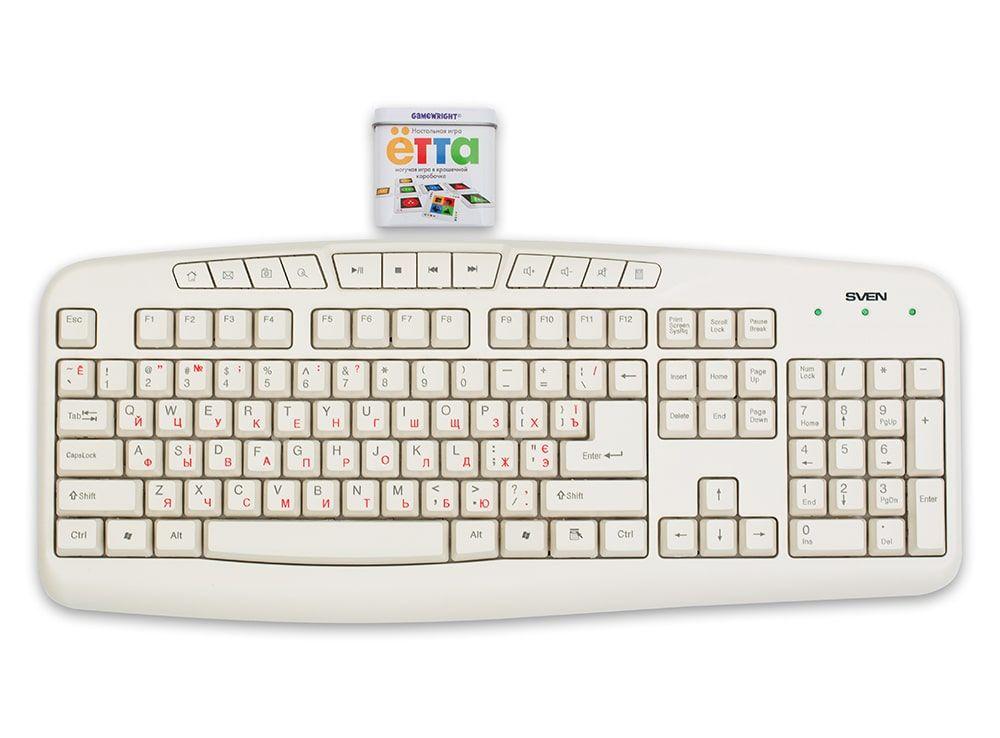 Настольная игра Ётта в сравнении с клавиатурой