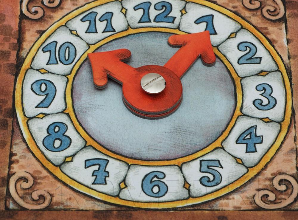 Часы в настольной игре Башня с привидениями