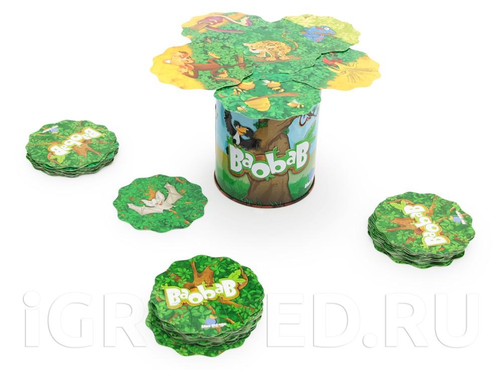 Компоненты настольной игры Баобаб (Baobab)