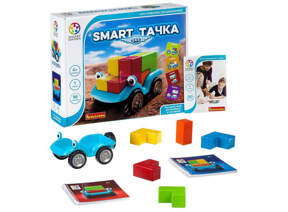 Компоненты настольной игры-головоломки Smart Тачка