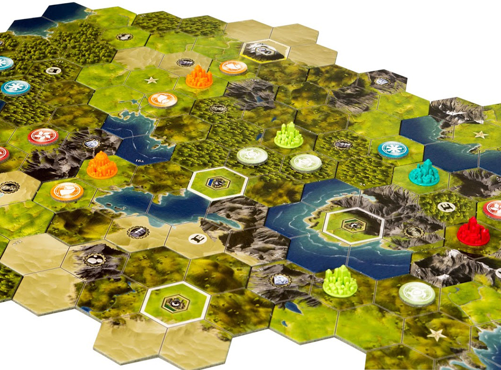 Компоненты настольной игры Цивилизация Сида Мейера: Новый рассвет