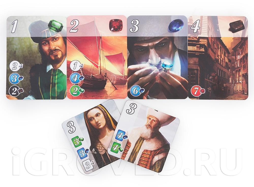 Компоненты настольной игры Роскошь (Splendor)
