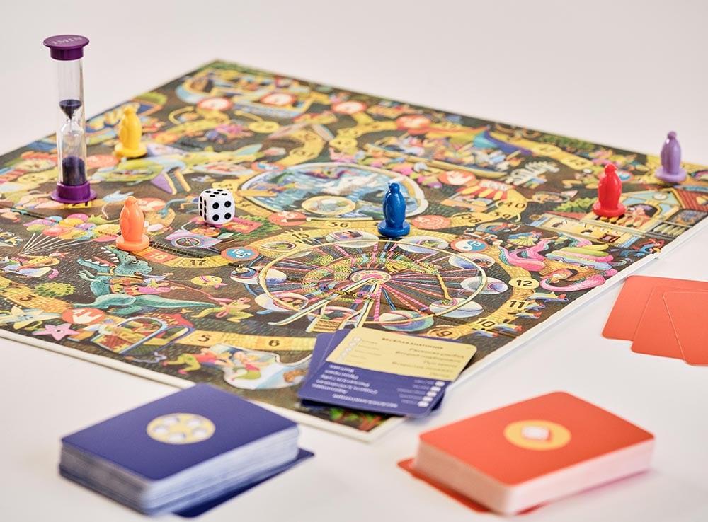 Игровое поле и компоненты настольной игры Экивоки для всей семьи