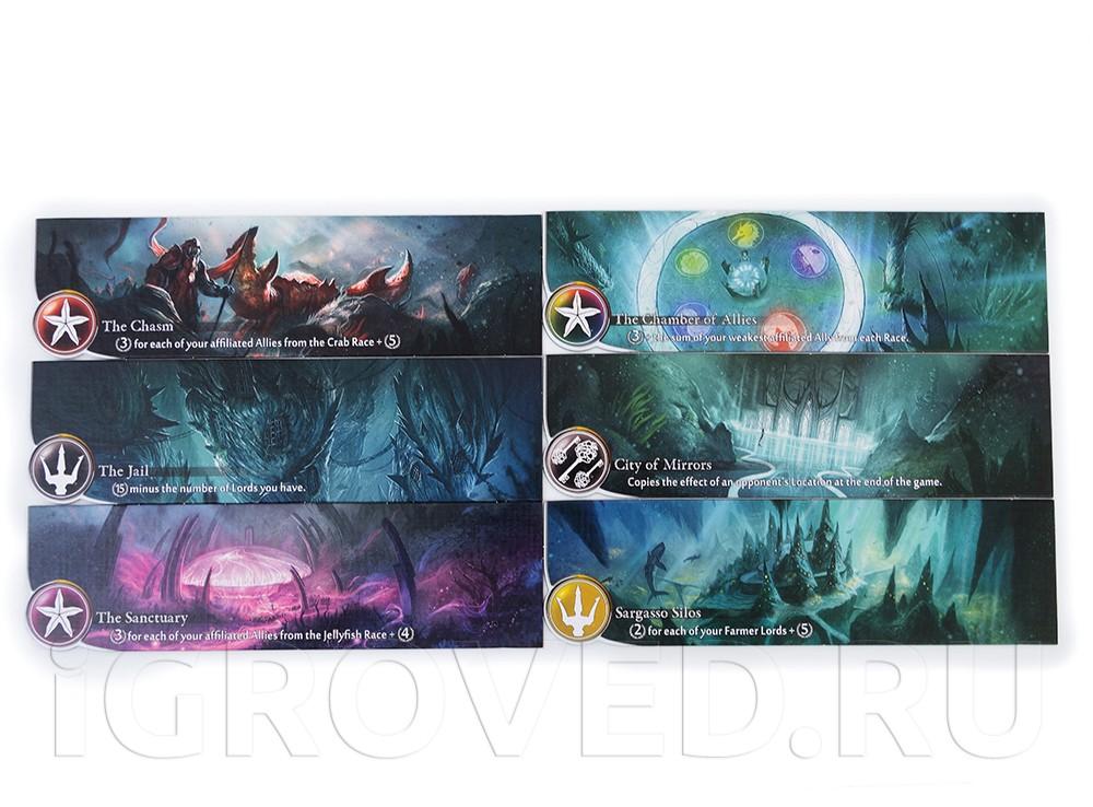 Компоненты настольной игры Бездна
