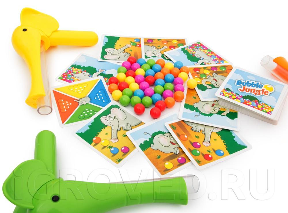 Компоненты настольной игры Слоноловкость (Bubble Jungle)