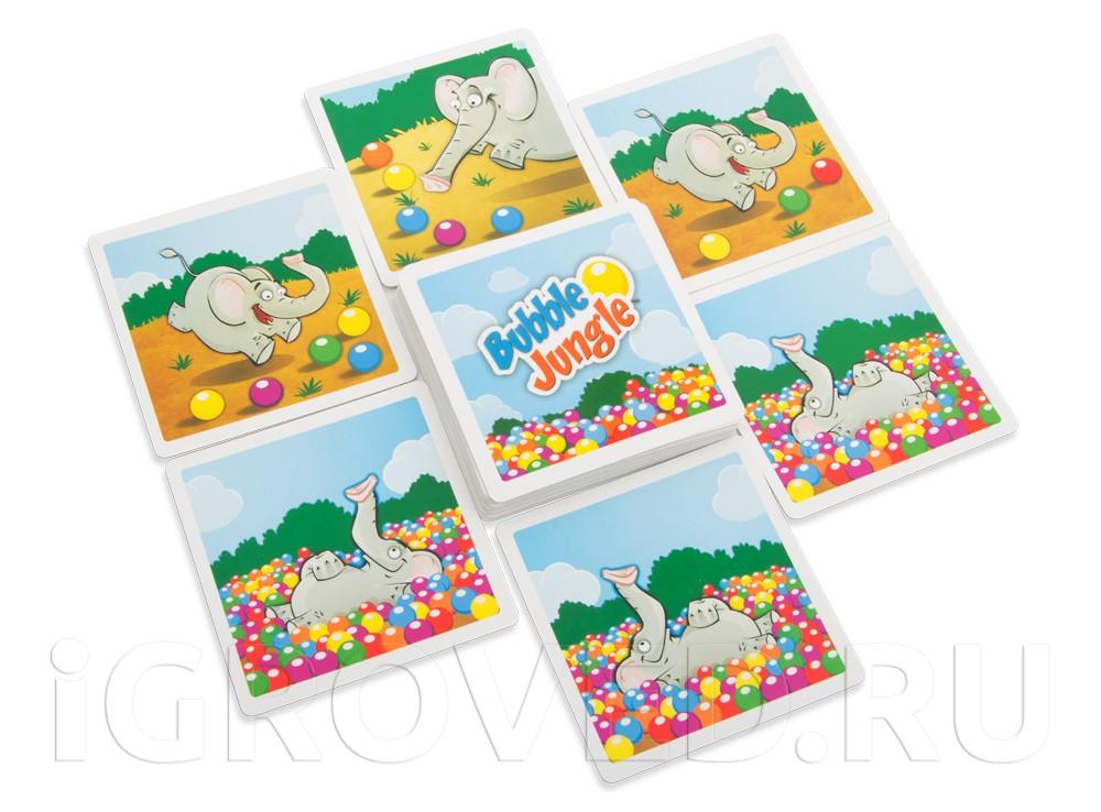 Карточки настольной игры Слоноловкость (Bubble Jungle)
