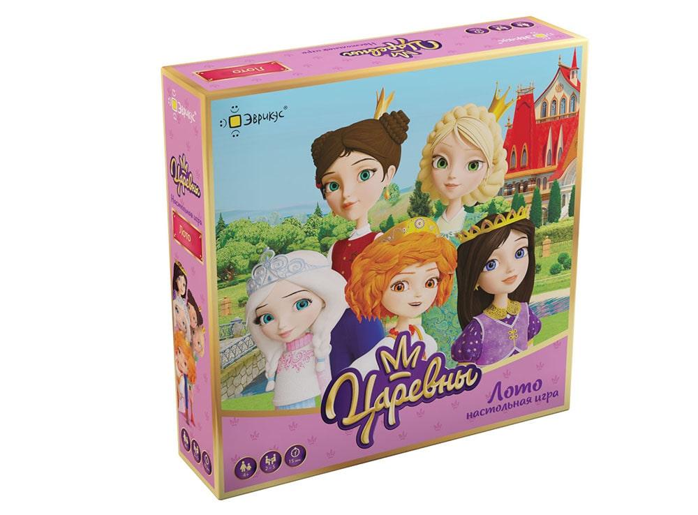Коробка настольной игры Царевны. Лото