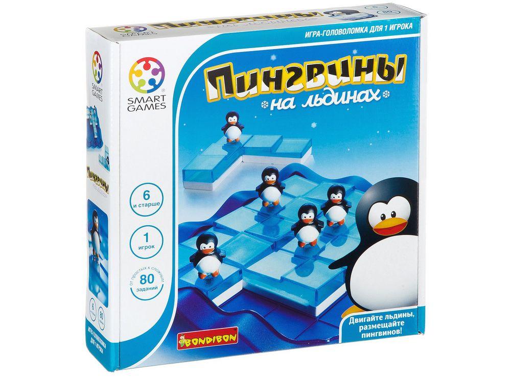 Коробка настольной игры-головоломки Пингвины на льдинах