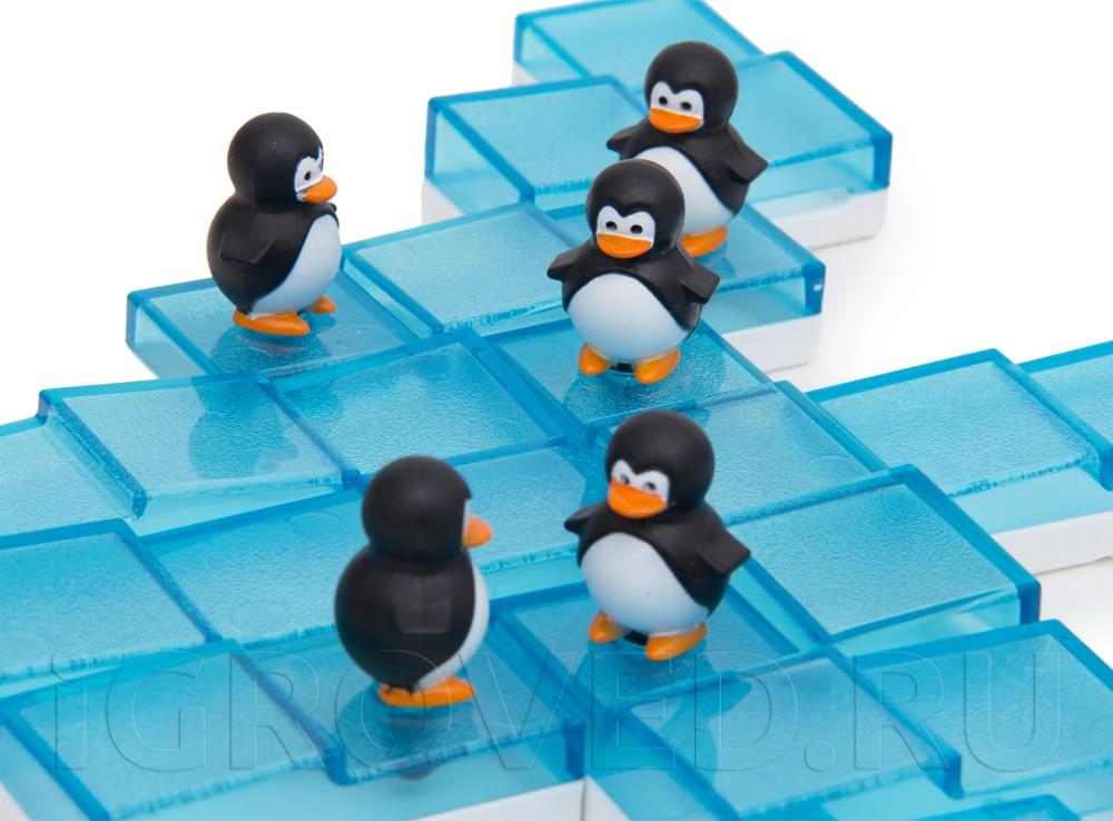 Компоненты настольной игры-головоломки Пингвины на льдинах