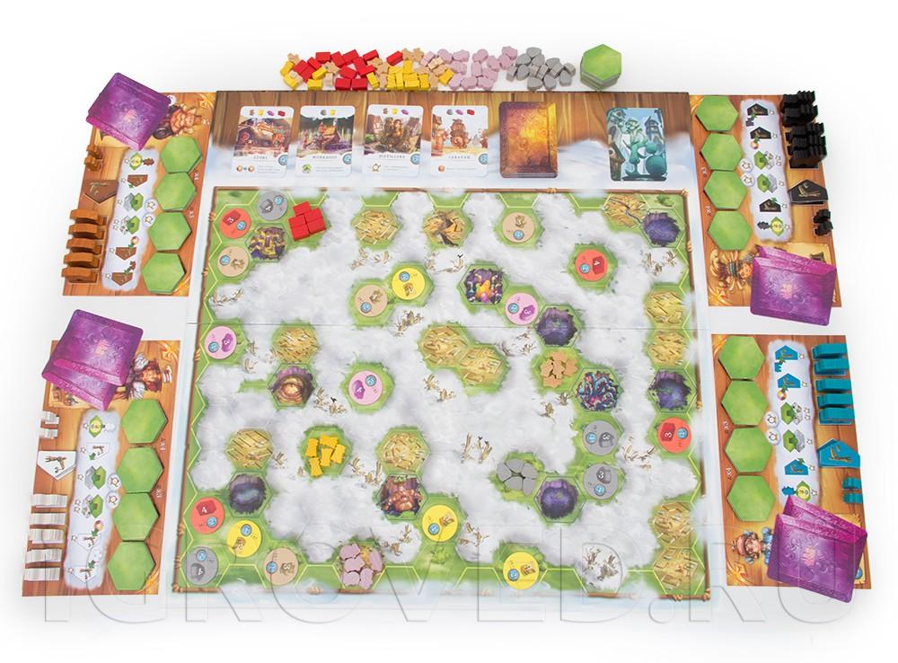 Игровой процесс настольной игры Туманная дорога (Via Nebula)