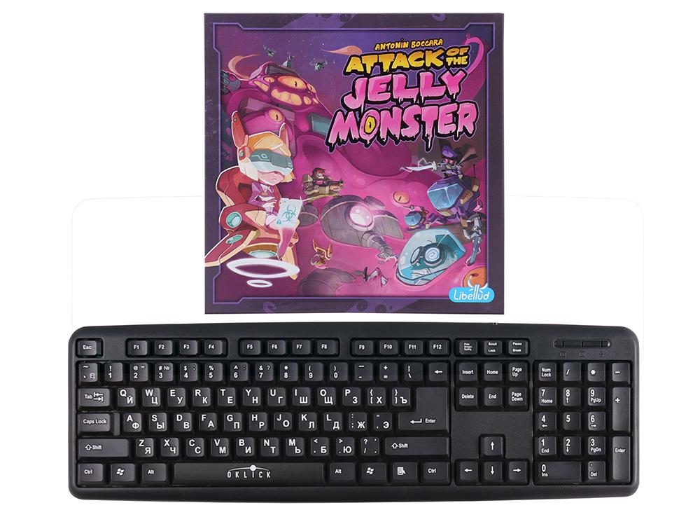 Коробка настольной Желейный монстр в в сравнении с клавиатурой
