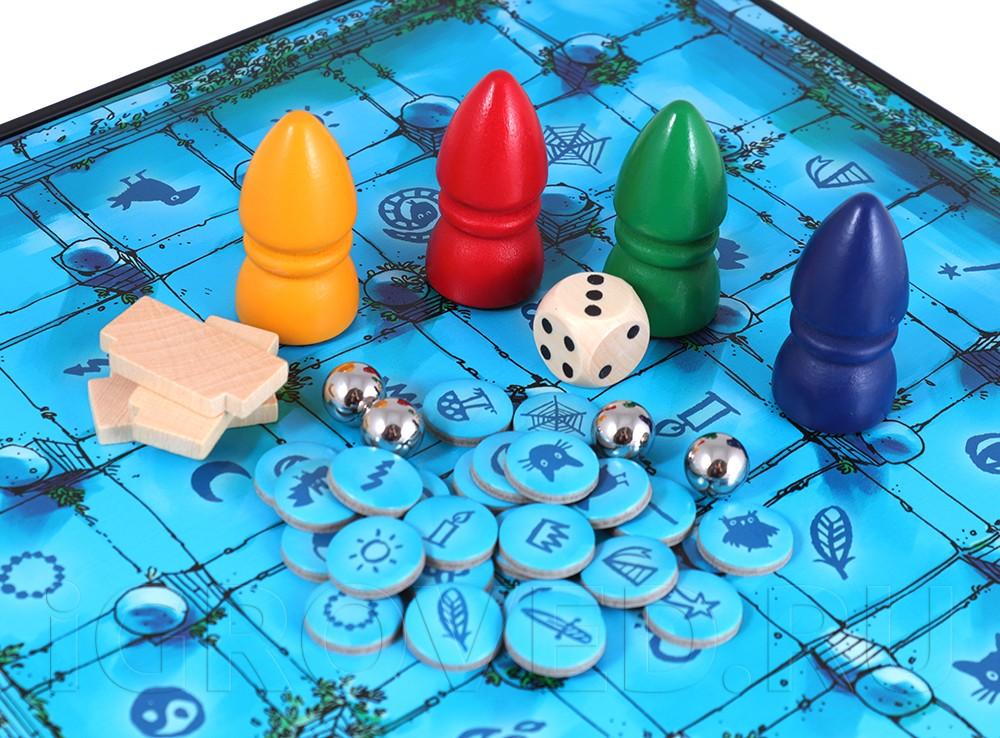 Компоненты настольной игры Магический лабиринт (Das magische Labyrinth)