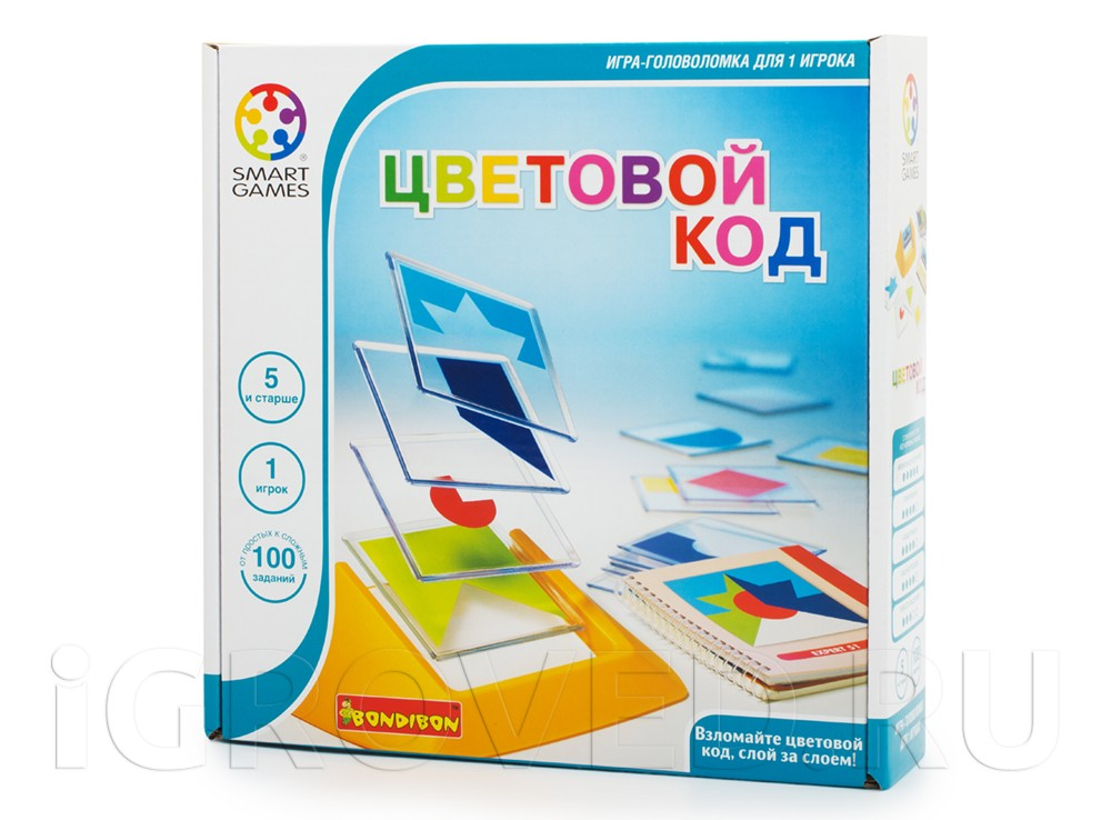 Коробка настольной игры-головоломки Цветовой код