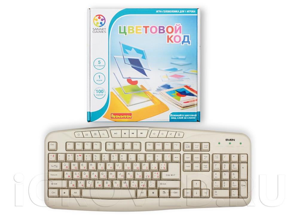 Коробка настольной игры-головоломки Цветовой код по сравнению с клавиатурой